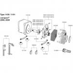 EHEIM Pièces détachées pour pompe Compact + 2000 (1100) et 3000 (1101)