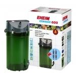 EHEIM Classic 2217 filtre externe pour aquarium jusqu'à 600L avec mousses filtrantes et doubles robinets