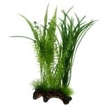 HOBBY Flora Root 1 L, plante artificielle sur support céramique pour la décoration de votre aquarium