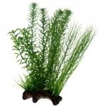 HOBBY Flora Root 2 L, plante artificielle sur support céramique pour la décoration de votre aquarium