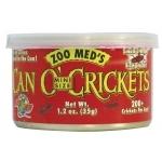 ZOOMED Can O' Cricket mini 35 grs grillons de petite taille pour lézards, tortues, poissons, oiseaux et petits animaux.