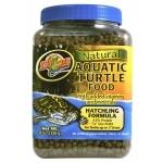 ZOOMED Natural Aquatic Turtle Hatchling 226 grs nourriture flottante en granulé pour bébés tortues jusqu'à 5cm