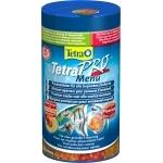 TETRA Pro Menu 250 ml 4 flocons supérieurs complémentaires dans 4 compartiments séparés pour poissons d'ornement