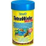 TETRA Wafer Mini Mix 100 ml aliment complet en pastilles pour les petits poissons de fond herbivores et carnivores ainsi que pour les crustacés