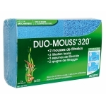 Mousses ACTIZOO Duo Mouss'320 lot de 2 blocs de mousse 32 x 20 x 4,5 cm maille fine et maille large