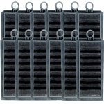 Lot de 12 cartouches filtrantes EHEIM 2628411 au charbon actif pour filtres suspendus Eheim Liberty 75, 130 et 200
