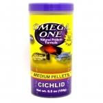 Nourriture en granulés pour gros Cichlidés OMEGA ONE Cichlid Medium Pellets 184 gr. riche en omega 3 et 6