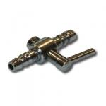 Robinet métal WAVE 1 sortie pour tuyau d'air 4/6 mm