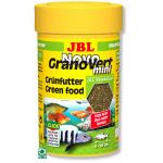 JBL NovoGranoVert mini 100 ml granulés pour petits poissons d'aquarium herbivores avec doseur