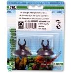 Lot de 2 ventouses JBL avec crochets 12 mm pour tuyau d'aquarium 9/12 mm
