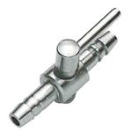 Robinet métal HOBBY 1 sortie pour tuyau d'air 4/6 mm