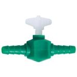 Lot de 2 robinets HOBBY en plastique pour tuyau d'air 4/6 mm