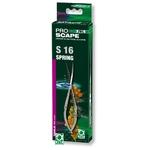 JBL ProScape Tool S 16 ciseaux à ressort courbés 16 cm en acier Nippon Steel pour l'entretien des mousses et plantes gazonnantes d'aquarium