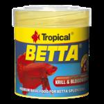TROPICAL Betta 50ml nourriture de base avec krill et vers de sang pour Betta splendens