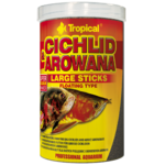 TROPICAL Cichlid & Arowana Large Sticks 1L bâtonnets rehaussant la couleur, pour cichlidés de grande taille et arowanas adultes