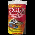 TROPICAL Cichlid Carnivore Small Pellet 250ml nourriture pour cichlidés carnivores jeunes ou de petite taille