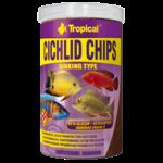 TROPICAL Cichlid Chips 1L nourriture rehaussant la couleur pour cichlides