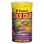 TROPICAL Cichlid Color 250ml nourriture de base pour cichlidés, riche en protéines et rehaussant la couleur, avec beta-glucan et orties