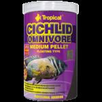 TROPICAL Cichlid Omnivore Medium Pellet 500ml nourriture à multi ingrédients pour cichlidés omnivores moyenne et de grande taille