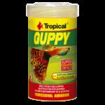 TROPICAL Guppy 100ml nourriture de base pour guppies, avec sel marin