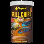 TROPICAL Krill Chips 1L nourriture sous forme de chips pour poissons d'eau douce et d'eau de mer, rehaussant la couleur, avec krill