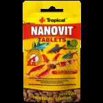 TROPICAL Nanovit Tablets 70 tablettes de nourriture réhaussant la couleurs des petit poissons