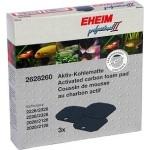 EHEIM  3 coussins de mousse au charbon actif pour filtre Professionel 2 2026, 2126, 2028, 2128, 2226, 2228 et eXpérience 2426