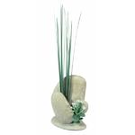 Décoration pour aquarium Galets avec Herbes GM 20 cm