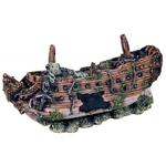 Décoration pour aquarium Épave de bateau 30 cm
