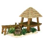 Décoration pour aquarium Ponton Bamboo et bateau