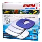 EHEIM 1 coussin de mousse bleu + 4 coussins d'ouate pour filtre Professionel 3 2080, 2180