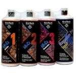 GROTECH kH+Ca Set 1, 2, 3 + Magnesium Pro Liquid 1000 ml pour le maintient des principaux paramètres de l'eau en aquarium récifal