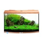 AQUAVIE StartUp 60B Hêtre aquarium de 54L avec vitre avant bombé, tout équipé, 60 x 30 x 30 cm. Finition Haute gamme !