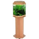 AQUAVIE ExaGo Aquarium hexagonal de 52L sans équipement, 42 x 40 cm. Couleur Hêtre. Finition Haute gamme !