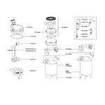 EHEIM Pièces détachées pour filtre externe Eheim Ecco pro 130 (2032) et 200 (2034)