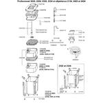 EHEIM Pièces détachées pour filtre externe Eheim Professionel 2222, 2224, 2322, 2324 et eXpérience 2124, 2422 et 2424