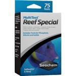 SEACHEM MultiTest Special pour le test précis de la teneur en Iode, PO4 et Silicate en aquarium d'eau de mer. 75 tests possibles