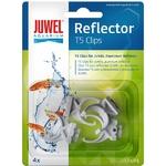 JUWEL Lot de 4 clips de remplacement d. 16mm pour réflecteur T5 Juwel Réf Juwel 94030