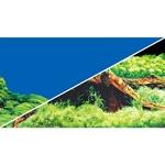 Poster de fond prédécoupé Spring / Moss 100 x 50 cm pour aquarium. Imprimé sur deux faces