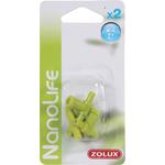 ZOLUX NanoLife Air set de 2 raccords en T + 2 robinets en plastique pour système d'aération