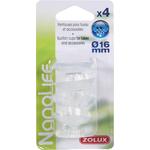 ZOLUX NanoLife lot de 4 ventouses pour tuyaux d'eau 12/16 mm