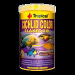 TROPICAL Cichlid Color XXL 1000ml nourriture de base pour cichlidés, riche en protéines et rehaussant la couleur, avec beta-glucan et orties