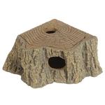 HOBBY Grotte d'angle Stump 17 x 13 x 5 cm cachette parfaite pour les petits animaux de terrarium