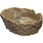 HOBBY Baignoire L gris-beige 2000 ml dimension 29 x 22 x 9 cm pour réptiles