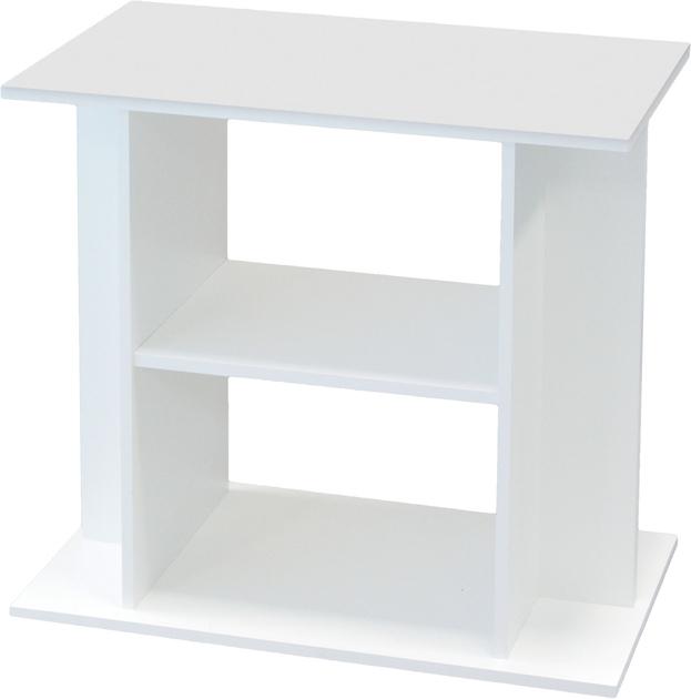 Meuble blanc avec tag re aquatlantis pour aquarium de 60 for Achat meubles en ligne