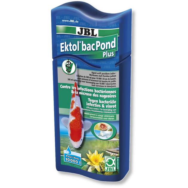 Jbl ektol bac pond plus 500 ml traitement usage for Traitement bassin poisson