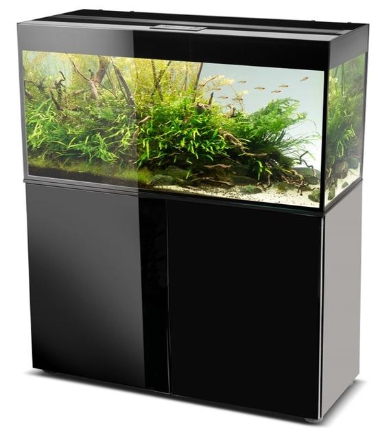 aquael glossy 120 noir laqu aquarium 120 cm volume 260 l et clairage leds tous les. Black Bedroom Furniture Sets. Home Design Ideas
