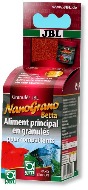 Jbl nanogranobetta 60 ml aliment principal en granul s for Nourriture combattant