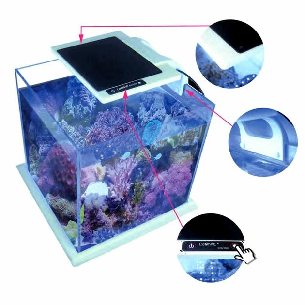 aquavie lumivie pro led np22 re d 233 clairage leds 10w 12000 176 k pour nano aquariums marins