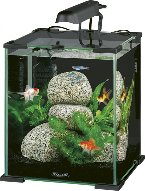 Nano aquarium zolux aqua nanolife cube 30 titanium volume for Aquarium zolux